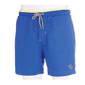 Aqua Perla Hombres Rudy SPF50+ Blue Swim Short