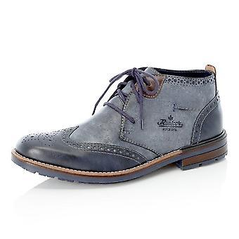 Rieker B1343-14 Bakersfield Men's Winter Fashion Lace Up Boots In Blue
