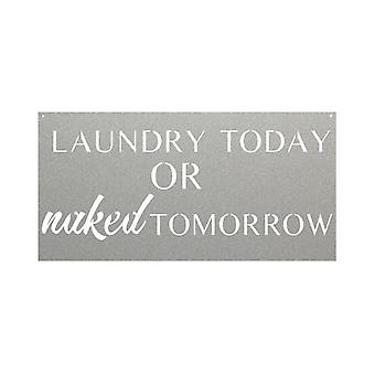Laundry Today Or Naked Tomorrow-metal Sign Board