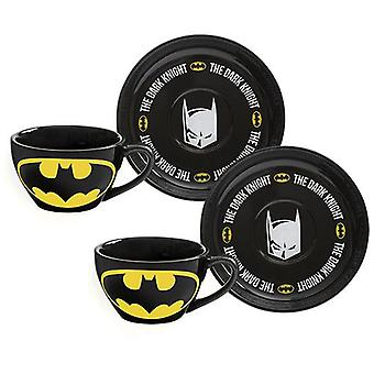 Batman tea cup & saucer - set of 2
