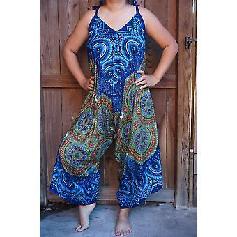 Mandala Druck Boho Hippie Overall