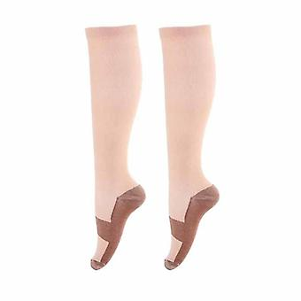 Long Tube Compression Socks, Knee High Sandals Nylon Cotton Hosiery Soft Pain