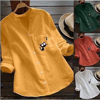 Barsel Bluser Langærmet V-hals Toppe Shirts Tøj til gravide kvinder