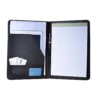 Business Portfolio Folder Document Case With Business Card Holder, Memo Note
