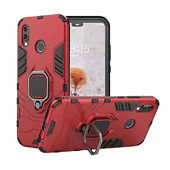 Keysion Huawei P30 Pro -kotelo - Magneettisen iskunkestävä kotelon kansi TPU Punainen + Jalusta