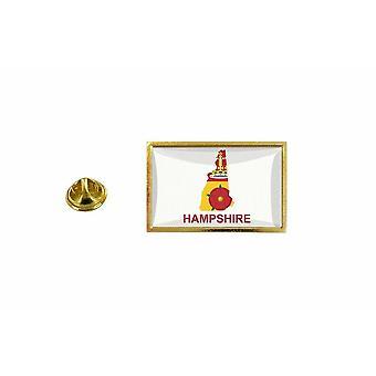 松松徽章针的国旗国家地图汉普郡王国联合