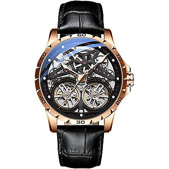 Men's Double Tourbillon Automatic Hollow-out Machine Watch