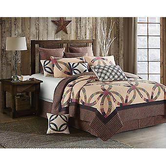 Spura Home Wedding Ring King Size Primitieve Quilt Set