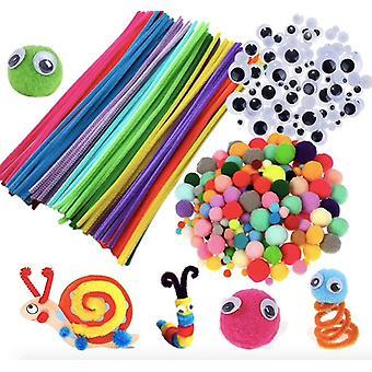 Kit de criação - Limpadores de tubos, olhos em movimento, bolas