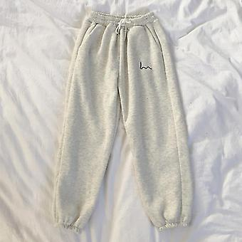 Women Casual Loose Korean Style Thick Sweatpants For Autumn/winter Trousers