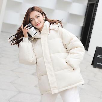 Winter Jacket Casual Warm Solid Hooded Parka Coat