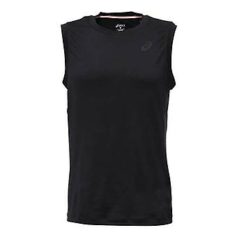 Asics MotionDry TrainingCore Mens Zwart Mouwloos Training Top 130446 0904 A6B