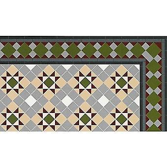 Nukke talo viktoriaaninen mosaiikki grosvenor laatta lattia 1:12 Lattian kiilto kortti arkki