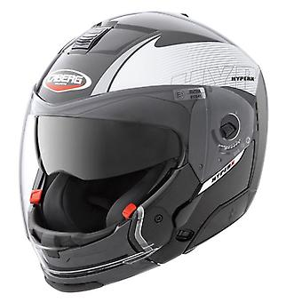 Caberg Hyper X Mod Helmet Black Silver Integrated Sun Visor ACU Approved XS