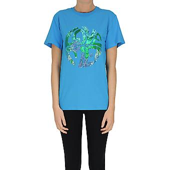 Alberta Ferretti Ezgl095075 Frauen's blau Baumwolle T-shirt