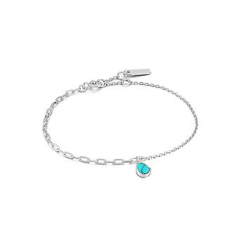 Ania Haie Rhodium Tidal Turkis Blandet Link Armbånd B027-02H