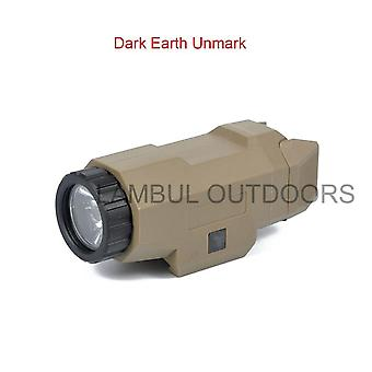 Tactical Scout Light Pistol Gun Light Compact Apl Flashlight
