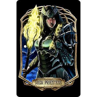 Deadly Tarot Obsidian The High Priestess Plaque