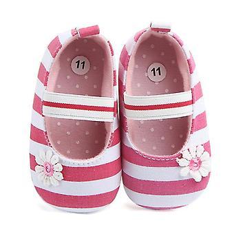 Baby Mädchen Leinwand solide Schuhe