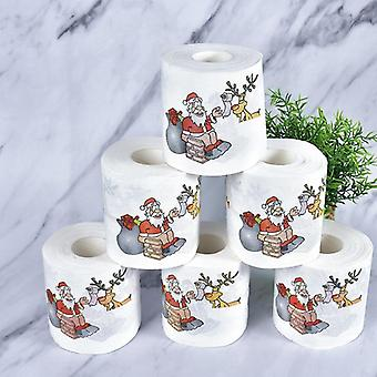 Ny Cute Christmas Mønster Toilet Tissue Pape (1 Roll)