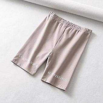 Korte paragraaf brief gedrukte legging vrouwen broek