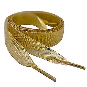 Sparkly Gold Ribbon Shoelaces Laces