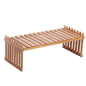 Bamboo Mini Storage Rack For Potted Plants
