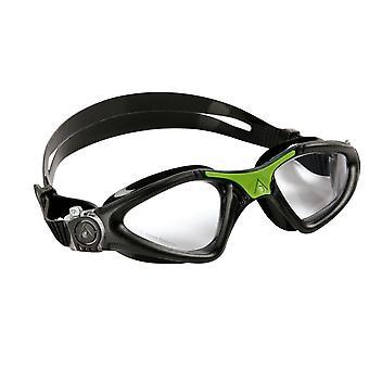 Aqua Sphere Kayenne Swimming Goggle - Clear Lenses - Black/Green