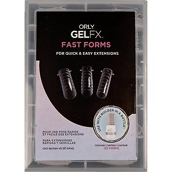 Orly Gel FX - Fast Forms For Quick And Easy Nail Extensions - (120 Forms) (OX33523)