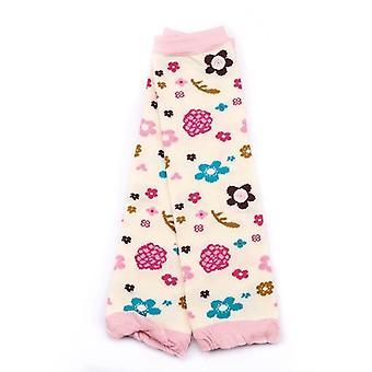 Cartoon Soft Socks, Crawling Knee Pads - Newborn Floral Printing Winter Leg