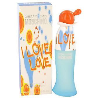 I Love Love Eau De Toilette Spray By Moschino 1.7 oz Eau De Toilette Spray