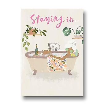 Pigment Hey Girl Staying In New Going Out Birthday Card Nq123a