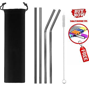 Colorful Reusable Drinking Stainless Steel Metal Straw