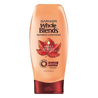 Garnier whole blends restoring conditioner maple remedy, for dry, damaged hair, 22 oz