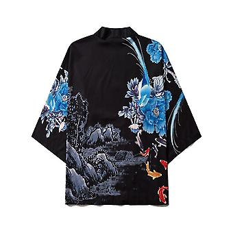 Japonais Demon Print Femmes Harajuku Cardigan Summer Loose Shirt Tops