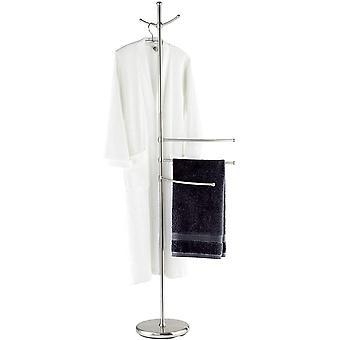 Wokex Handtuchstnder Adiamo mit 3 Armen - Garderobenstnder, hhenverstellbare Arme, 2 Aufhngehaken,