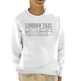 London Taxi Company TX4 Open Door Angles Kid's Sweatshirt