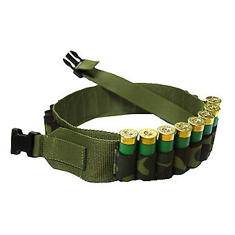 Bisley Camo Canvas 25 Shotgun Cartridge Belt - expandable loops 32-50 inch waist