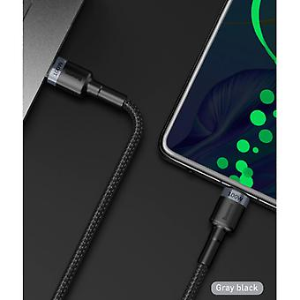 Baseus 100W USB-C to USB-C Charging Cable 2 Meter Braided Nylon - Tangle Resistant Charger Data Cable Black