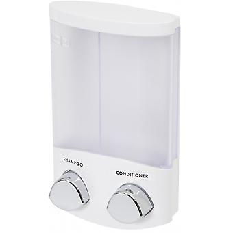 dispensador de jabón 620 ml de cromo blanco