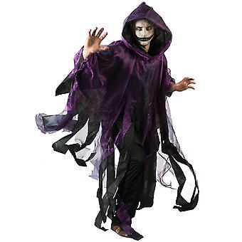 Cape violette et noire adulte Halloween