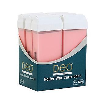DEO Rullavaha patruuna Voiteet vahaamiseen - Pinkki - 100 ml - Pakkaus 6