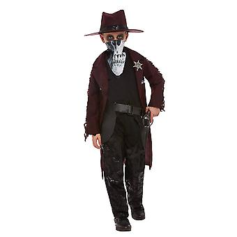 Mysterieuze cowboy kind vermomming
