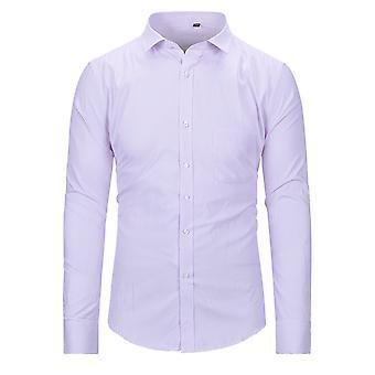 YANGFAN Homme Robe Slim Fit Shirt Chemise longue Sleeve Business Top