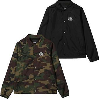 Vans Boys Kids Torrey Button Down Collared Water Resistant Coaches Jacket Coat
