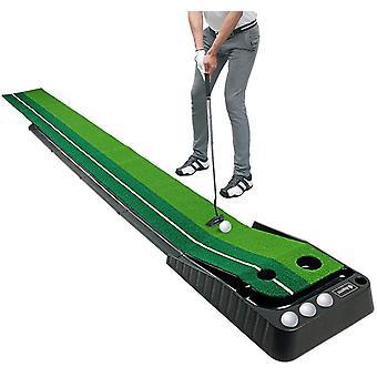 FengChun Golf Putten Trainer, Innenraum/Draussen Golf Automatische Rckgabe Putten Trainer Matte 3M