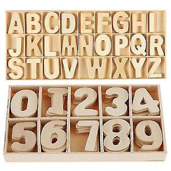 FengChun Mini-Grobuchstaben aus Holz Digitalholzbuchstaben Digital, Kid Holzspielzeug Lernspielzeug