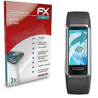 atFoliX 3x Écran protecteur compatible avec DOOGEE DG Band Protecteur d'écran clair&flexible