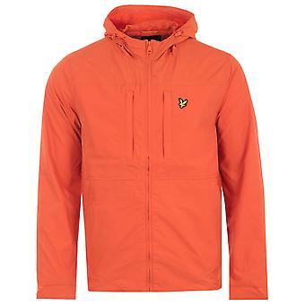 Lyle & Scott Panelled Hooded Jacket - Burnt Sienna