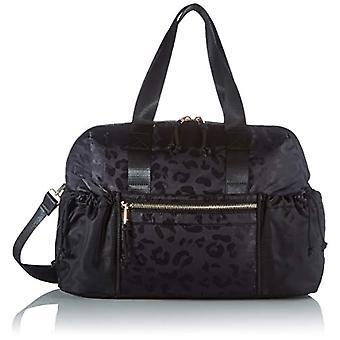 PIECES PCSILUNA Nylon Weekend Bag, Women's Folder Bag, Black, One Size